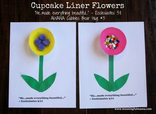 1-#Cupcake Liner #flower #craft #Cubbies #Bear Hug 3-009
