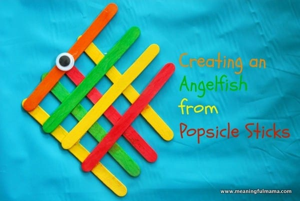 1-#angel fish #popsicle stick #craft-007