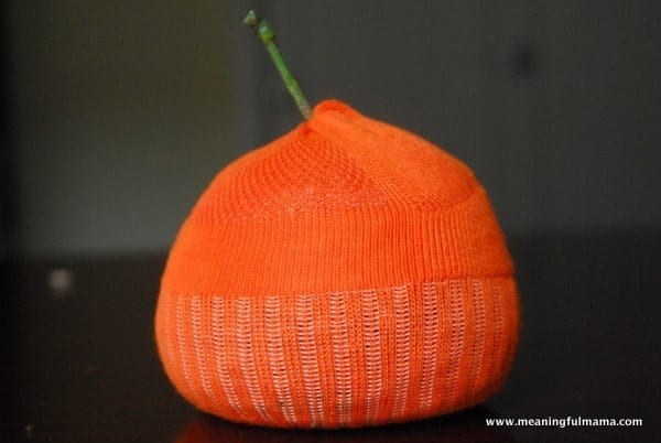 1-#pumpkin sock craft #halloween jack-o-lantern craft-012