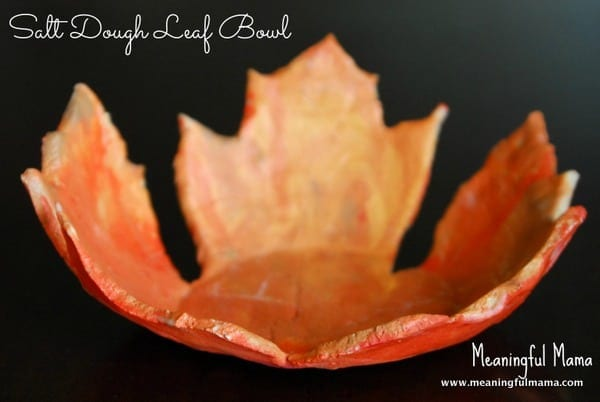 Salt Dough Leaf Bowl - A Fall Craft for Kids by Meaningful Mama