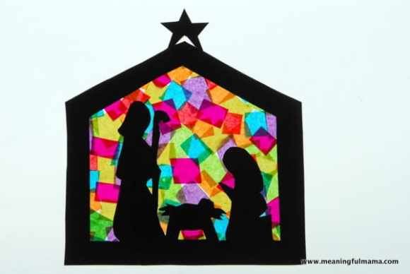 1-#nativitycraft 2 #nativty #stainedglass #Christmas #craft-023