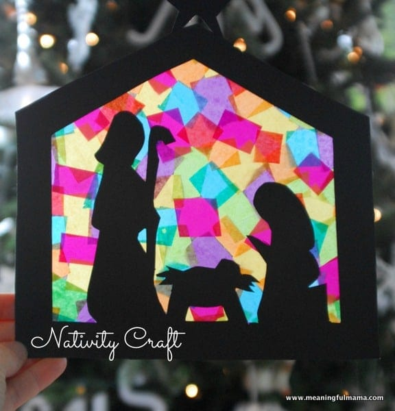 Stained Glass Nativity Craft Teaches Hope