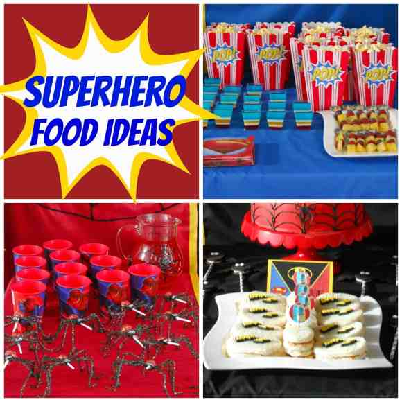 #superhero party #food ideas