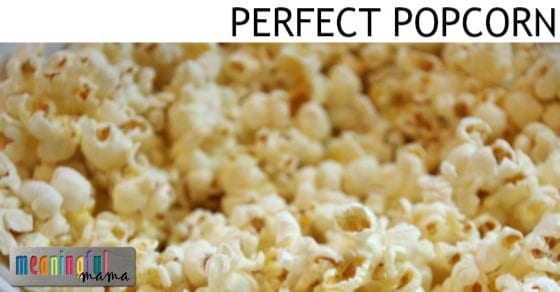 ... Make Perfect Popcorn with the Perfect Butter to Salt to Popcorn Ratio