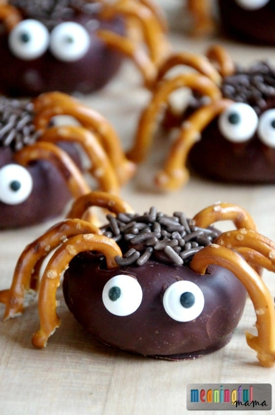 Easy Mini Spider Donuts