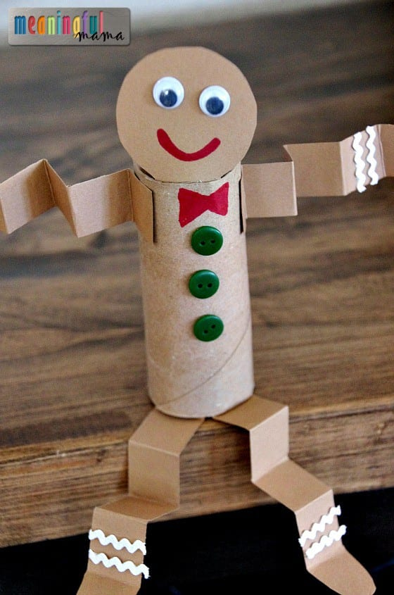 Toilet Paper Roll Gingerbread Man Craft