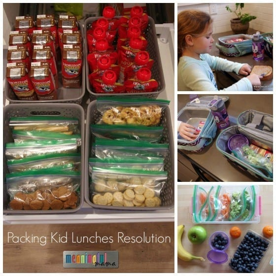 Packing Kid Lunches Resolution - Making Mornings Easier