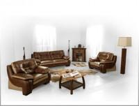 Комплекты кожаной мягкой мебели
