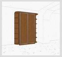 Стандартный шкаф-купе 2-х дверный шк261 к(л)к(п)