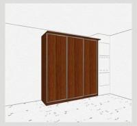 Стандартный шкаф-купе 3-х дверный шк361