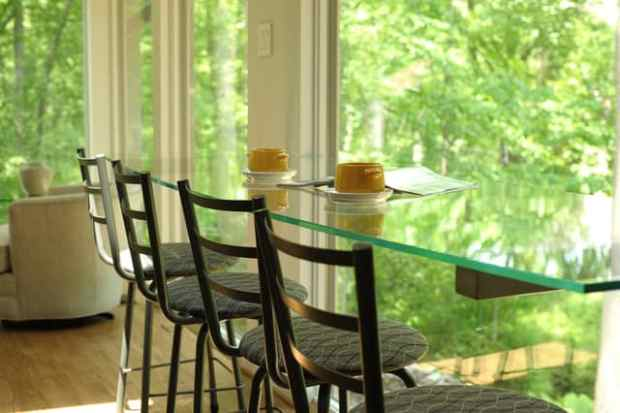Enjoy the view from a window seat at the breakfast bar for Floating breakfast bar