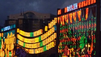 Belén glows with pride during the 2011 alumbrado, Medellín's annual Christmas lights display.