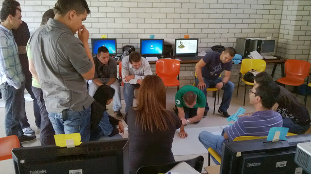 Group discussing the project