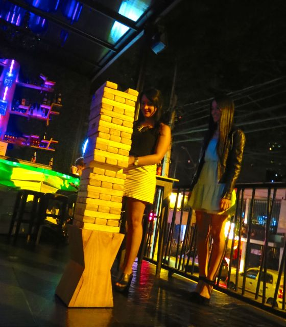 Giant Jenga is one of the fun things to do at Tree Bar.