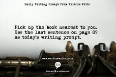 Writers Write prompt
