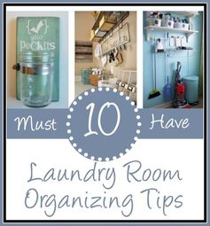 10 Ways to Organize a Laundry Room | The Everyday Home - Featured at the #HomeMattersParty 51