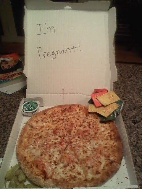 Fun way to announce a pregnancy - this is exactly how husband would like to be told!!! :)