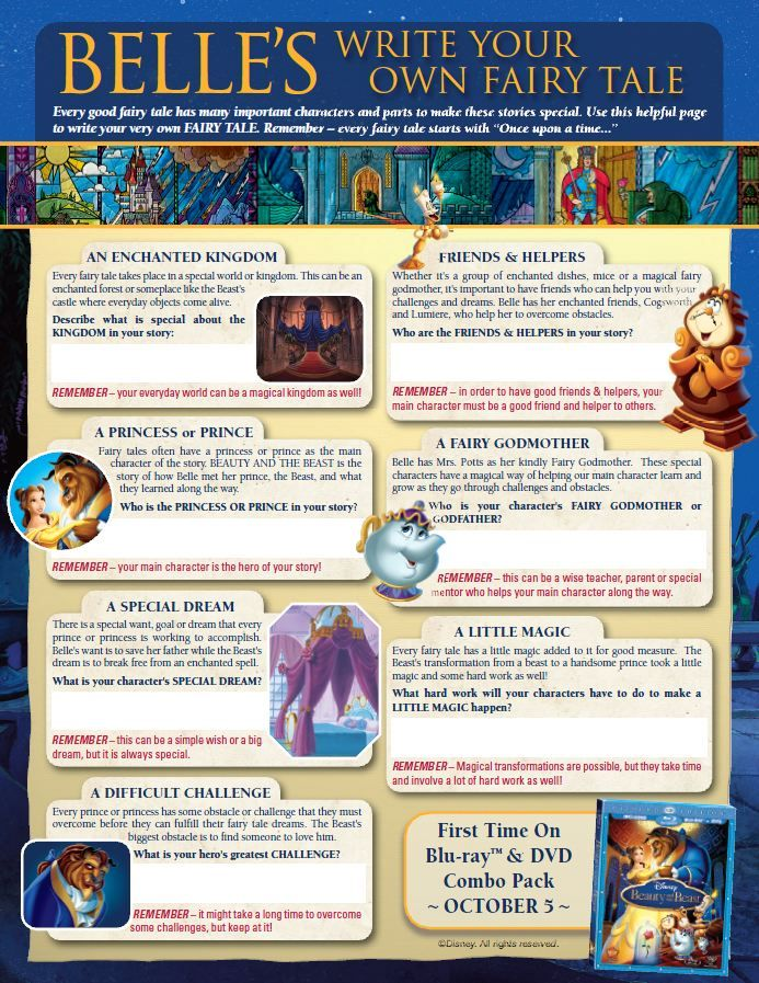 Disneyu0026#39;s Beauty and the Beast Printables, Coloring Pages ...
