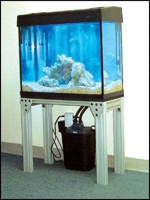 Heavy duty, but very cool aquarium stand | Cool Applications of 8020