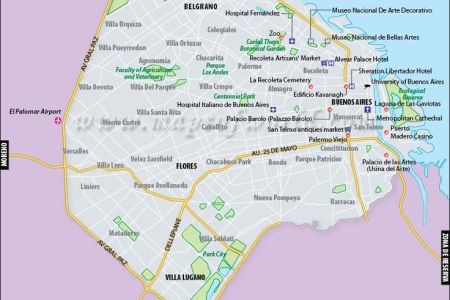 buenos aires city map | madrid and s america | pinterest