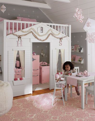 Casas Cama Para Habitaciones Infantiles Pintando Una Mamá