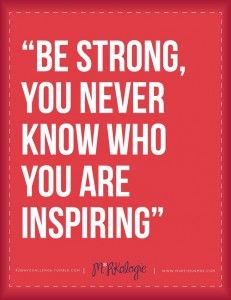 Pinterest - Be Strong