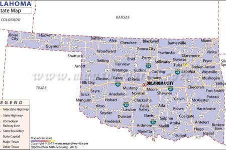 map of oklahoma | oklahoma, usa | pinterest