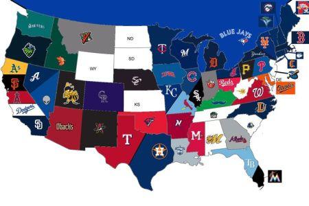 mlb map '13   baseball   pinterest