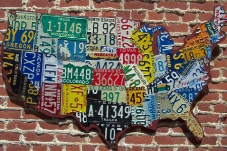 license plate map of the united states | cool & funky