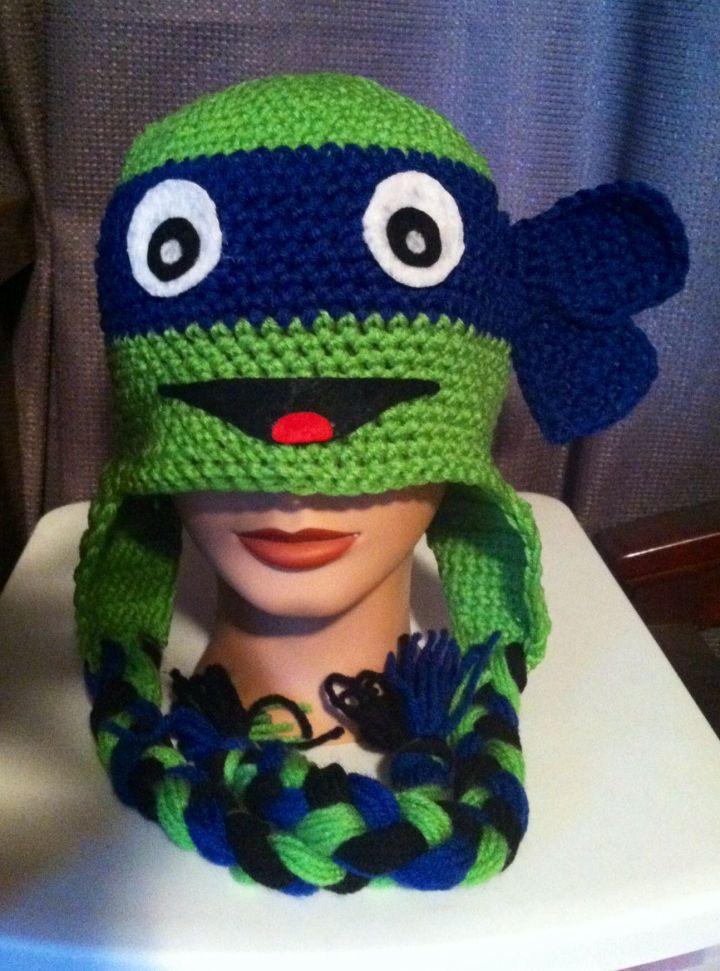 Free Crochet Pattern For Ninja Turtle Hat : Ninja Turtle Crochet Hat Pattern Free - Hot Girls Wallpaper