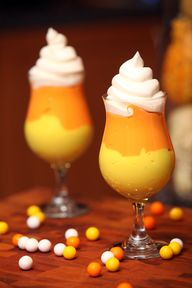 Candy Corn Pudding #