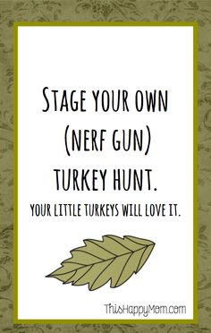 Stage your own turke