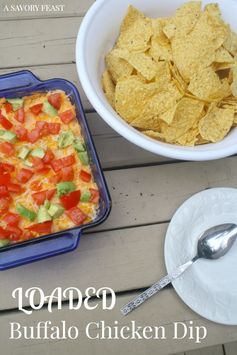 Loaded Buffalo Chicken Dip | A Savory Feast - Featured at the #HomeMattersParty 51