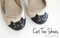 DIY Cat Toe Shoes Upcycle | Julie is Coco and Cocoa - Featured at the #HomeMattersParty 56