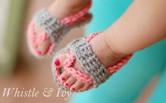 How-To: Crocheted Baby Flip Flop Sandals