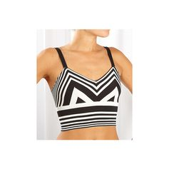 Only Hearts Chevron Stripe Bralette ($52) ❤ liked on Polyvore
