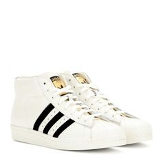 Adidas Pro Model Vintage Sneakers ($145) ❤ liked on Polyvore