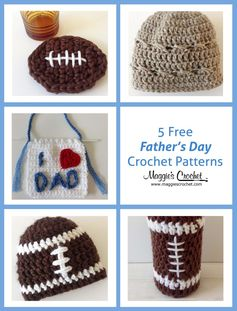 Five Freebies – Father's Day Free Crochet Patterns