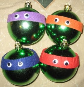 Teenage Mutant Ninja Turtle Christmas Ornaments #tmnt #diy #ornaments