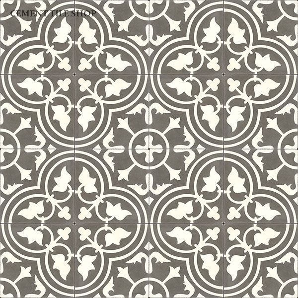 Cement Tile Shop - Handmade Cement Tile | Roseton Charcoal