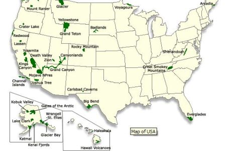 u.s. national park map | national parks | pinterest