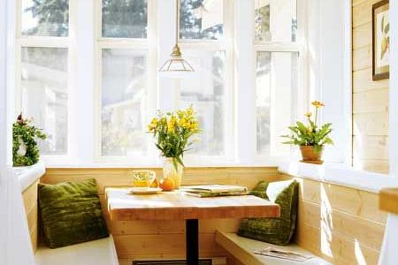 built in breakfast nook idea from lowes | for the home
