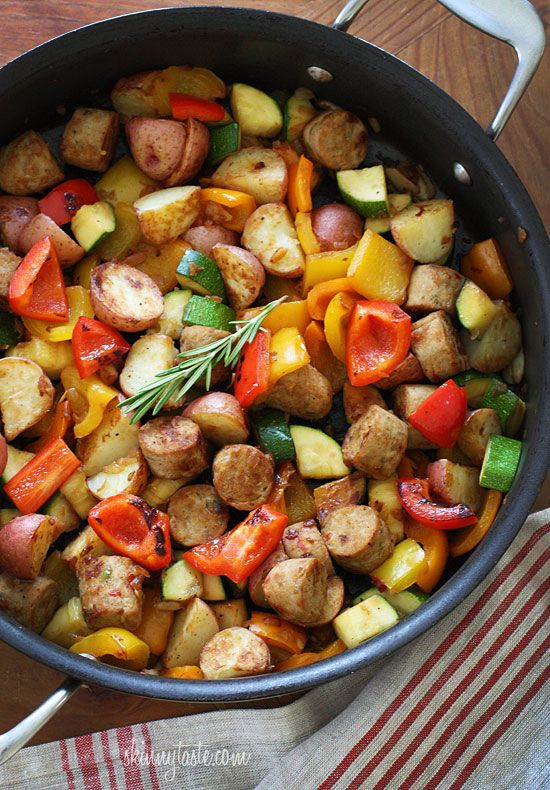 Summer Vegetables with Sausage