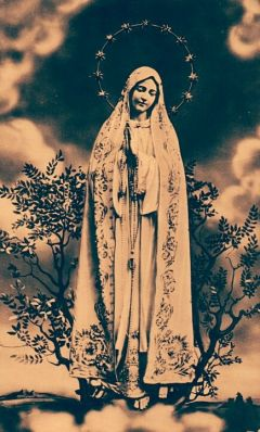 devotional image of Our Lady of Fatima