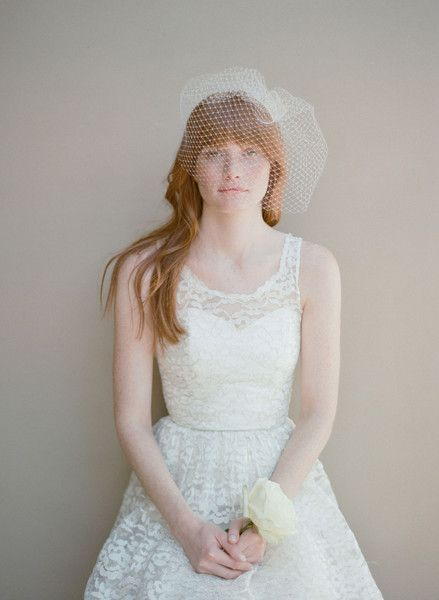 Angled full birdcage veil - Twigs & Honey @Etsy