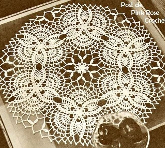 Doily with diagram