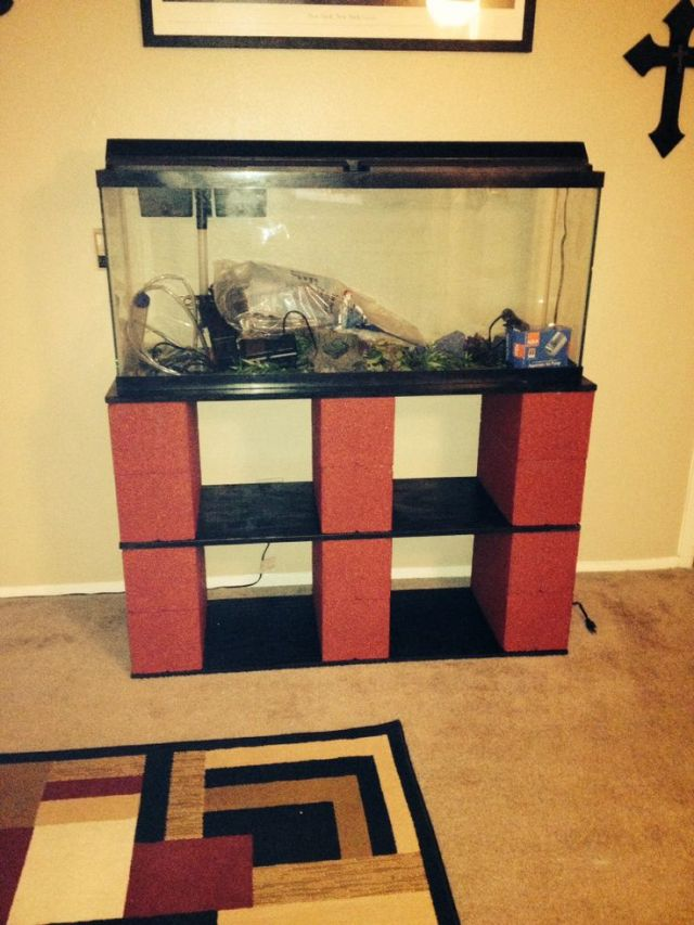 DIY fish tank stand for 55 gallon tank. | My love for creativity | Pi