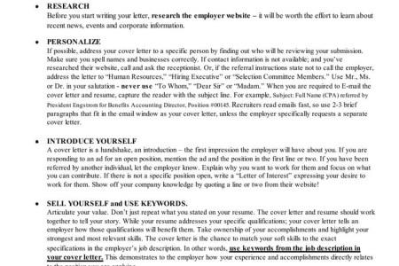 cover letter tips - Cover Letter Career Builder