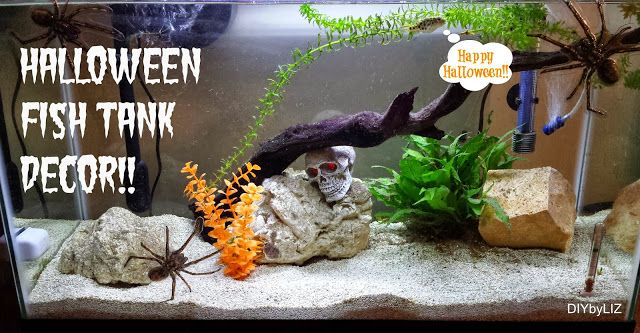 Halloween fish tank decor! | Fishie Wishie O