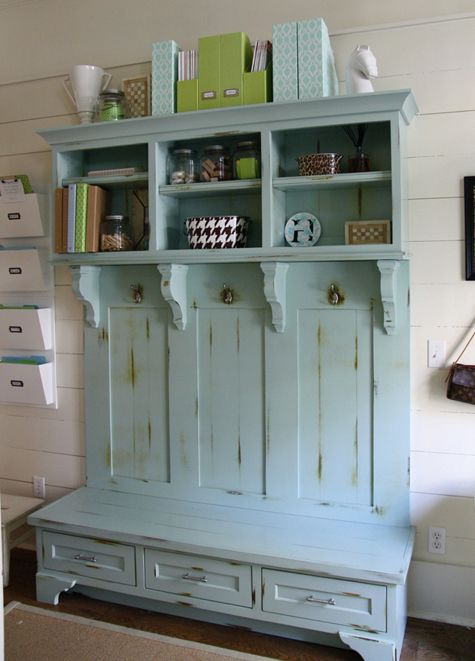Benjamin Moore's 2012 Color of the Year: Wythe Blue {HC-143}...more info on this gorgeous entryway at simplyseleta.com